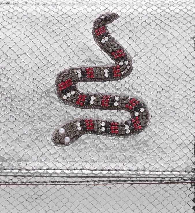 Bolsa Tiracolo PhytonTextura Old Silver