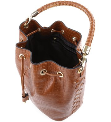 Bolsa Bucket Brigitte Croco Marrom