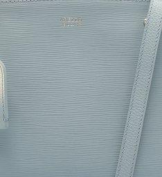 Bolsa Tote Couro Bella Média Soft Blue e Bianco