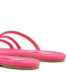 Chinelo Nobuck Tiras Bombadas Pink Absolut