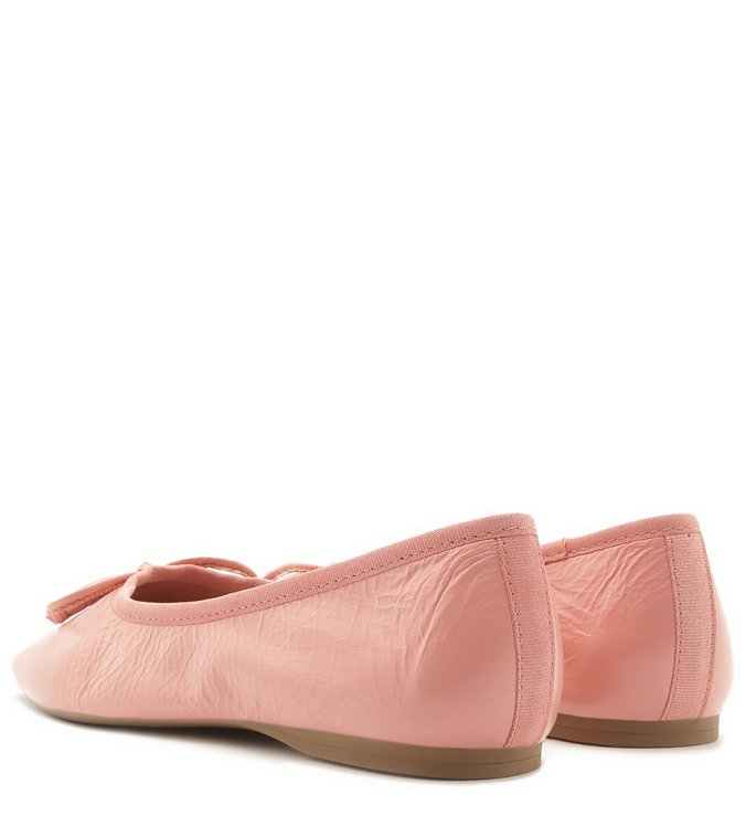 Sapatilha Rosa Arezzo Touch Couro Flowe Pink