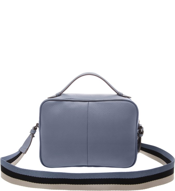 Bolsa Couro Tiracolo Pequena Carol Vintage Blue
