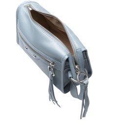 Bolsa Tiracolo Azul Couro Adriana Pequena New Cielo