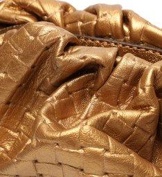Bolsa Crossbody Tiracolo Dourada de Couro Pequena Eva