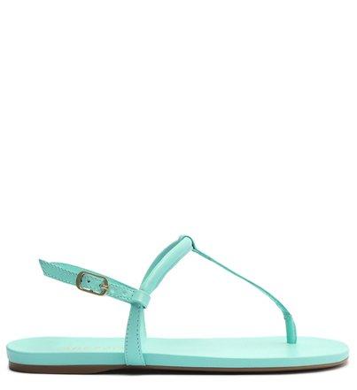 Sandália Rasteira Azul Slim Básica