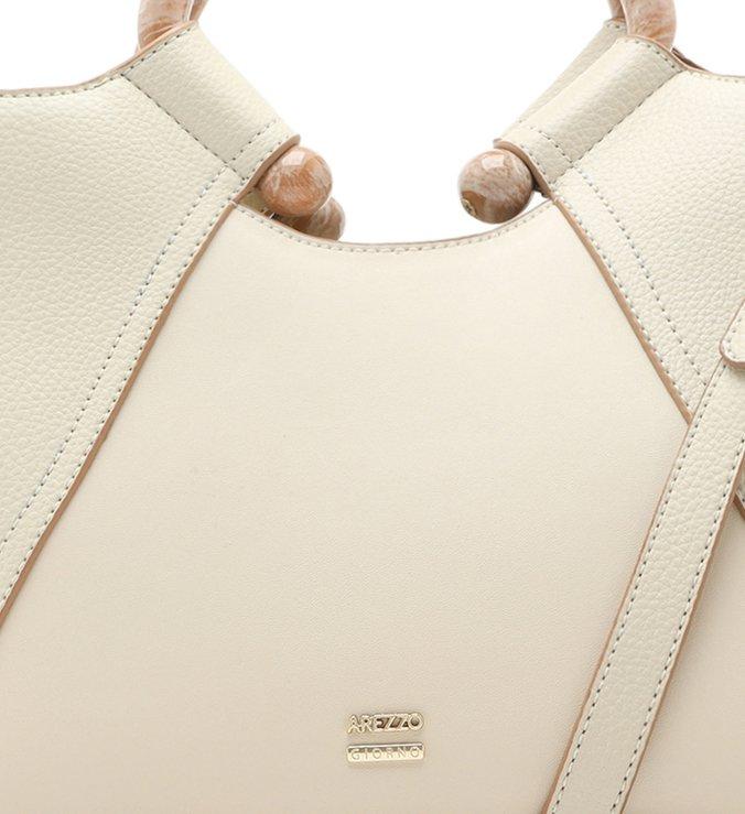 Bolsa Tote Branca Beatriz Grande Off-White