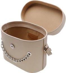 Bolsa Tiracolo Couro Karinne Pequena Latte