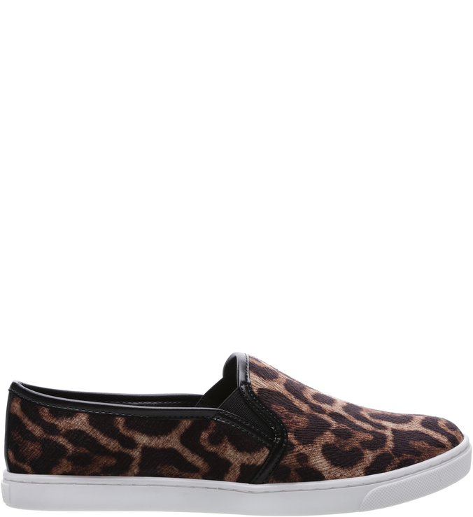 Tênis Slip On Animal Print Leopardo