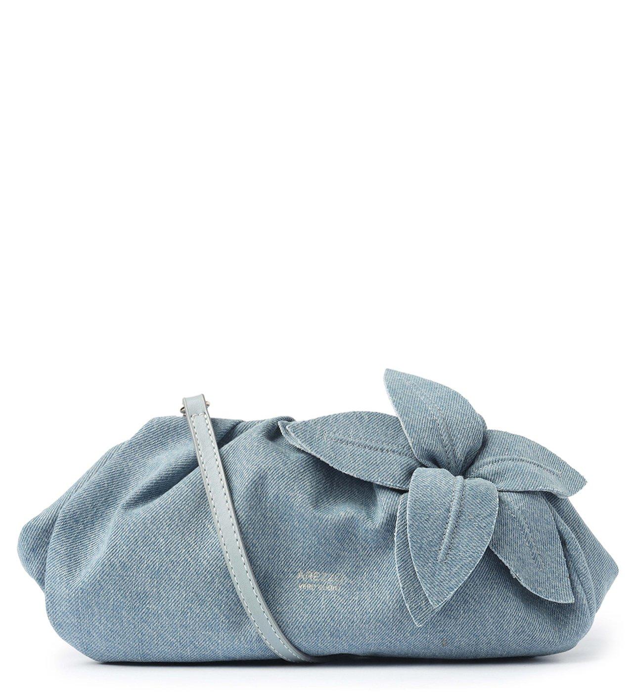 Bolsa Tiracolo Azul Jeans Couro Lily Média | Arezzo