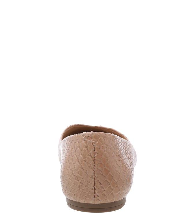 Sapatilha Viper Skin Bico Fino Soft Avelã