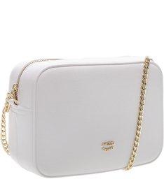 Bolsa Tiracolo Pequena Cantos Arredondados Bianco