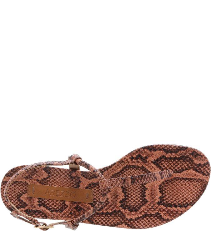 Rasteira Snake Mármore New Papaya