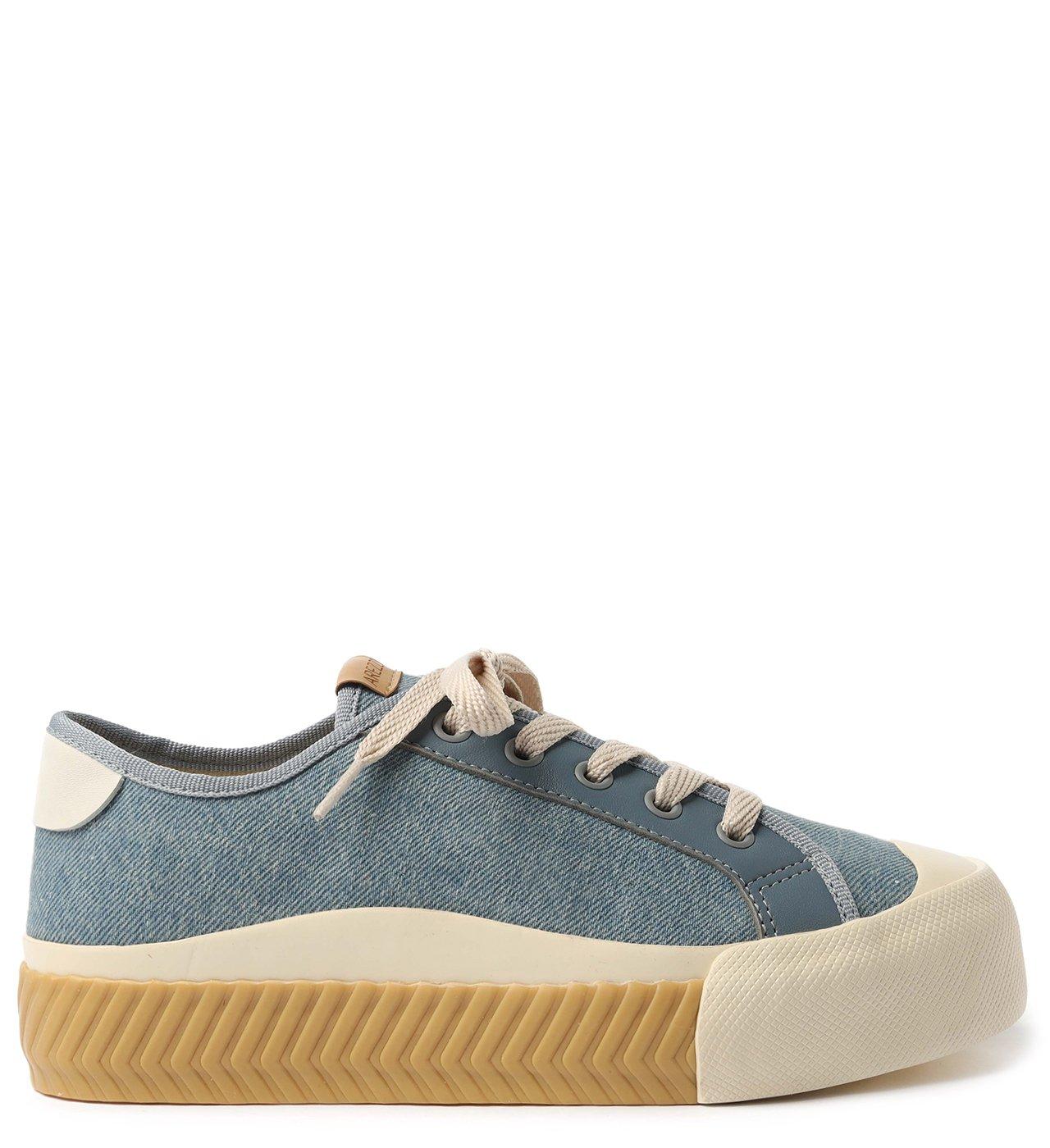 Tênis Azul Jeans Flatform Zz Rubber | Arezzo