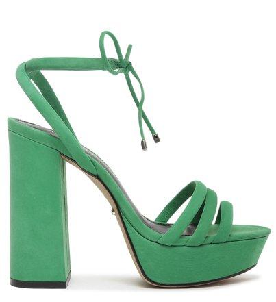 Sandália Verde Nobuck Plataforma