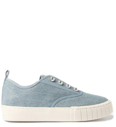 Slip On Azul Jeans Flatform