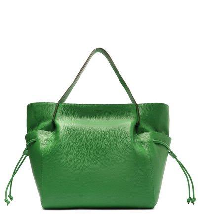 Bolsa Shopping Verde Couro Mia Grande