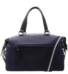 Bolsa Shopping Couro Grande Prione Navy Blue
