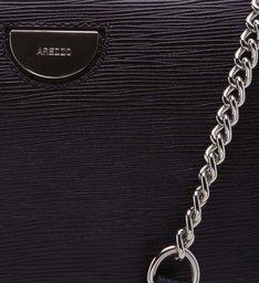 VIVARA | Bolsa Tiracolo Couro Textura Pequena Preta