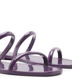 Rasteira Roxa Injetada Aberta Tira Dupla Real Purple