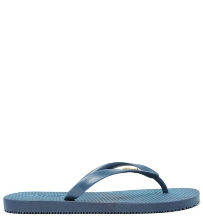 Kit Chinelo de Dedo Azul Brizza e Bag Transparente