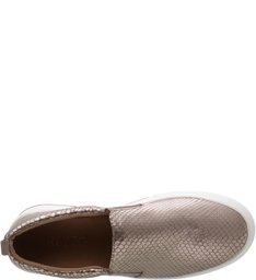 Tênis Slip On Snake Metalizado New Titanium