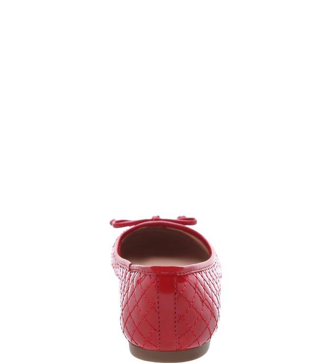 Sapatilha Verniz Matelassê Vermelha