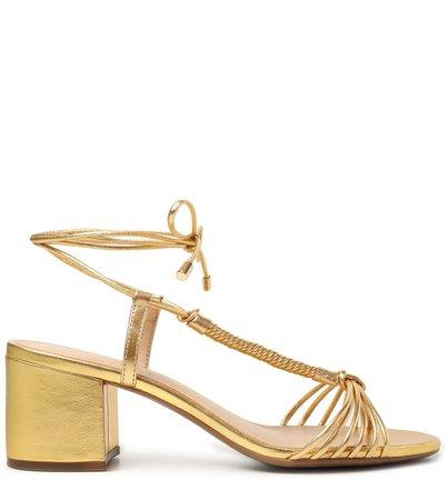 Sandália Dourada Bloco Amarração