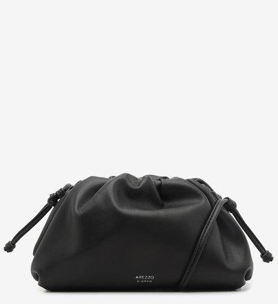 Bolsa Clutch com Alça Tiracolo Preta Pequena