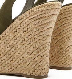 Sandália Plataforma Nobuck Peep Toe Trança Pântano