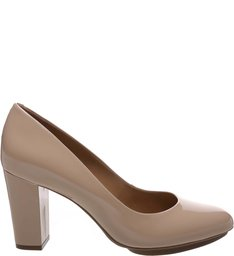 Scarpin Verniz Plataforma Light Cream