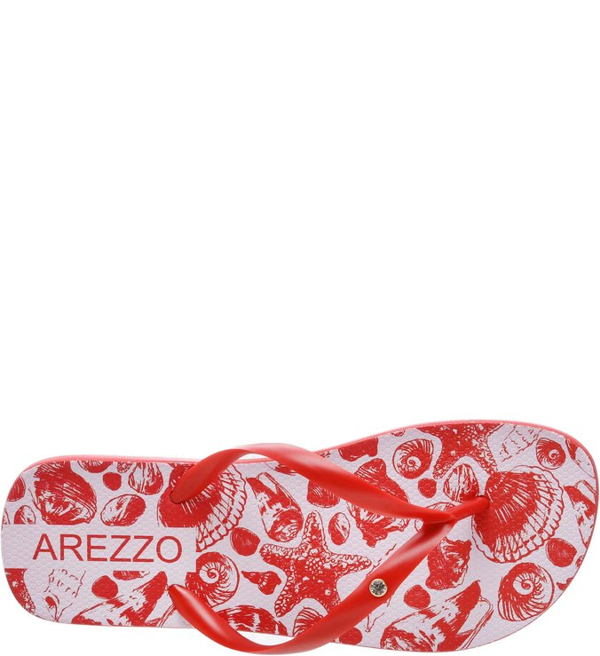 Chinelo Mares Strass Royal Red  Nécessaire Transparente