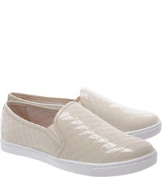 Slip-on Matelassê Verniz Off White