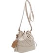 Bolsa Bucket Puntino Off White