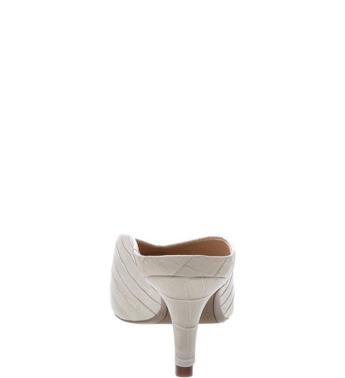 Mule Croco Salto Kitten Porcelana