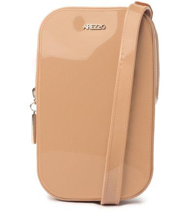 Mini Bolsa Bege Duda Porta-Celular Brizza
