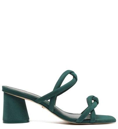 Sandália Verde Nobuck Bloco Tiras Chiara