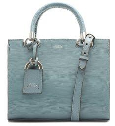 Bolsa Tote Azul Couro Abraccio Pequena New Cielo