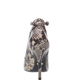 Scarpin Snake Vazado Tornozeleira Osso