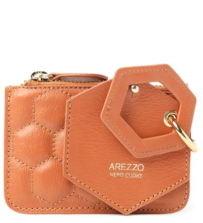 Bag Charm Marrom Couro Bee.ZZ Toffee