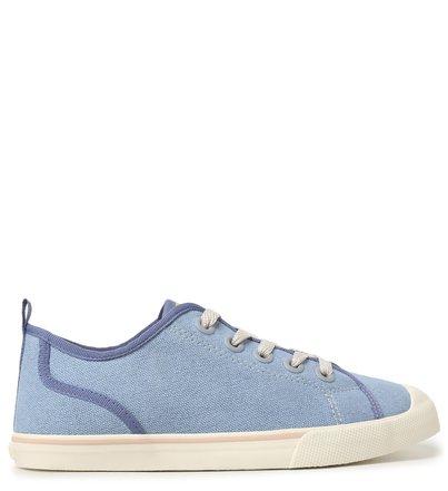 Tênis Azul Lona Gorgurão