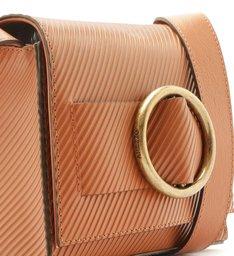 Bolsa Tiracolo Couro Allegra Stripes Pequena Argila Real