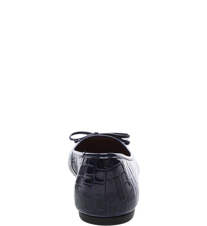 Sapatilha Verniz Croco Blue Mist