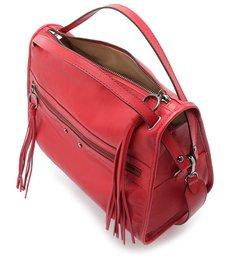 Bolsa Bowling Couro Adriana Grande Lust Red