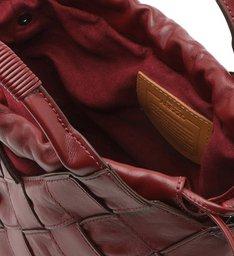 Bolsa Tote Vermelha Couro Gaia Média Flâmula