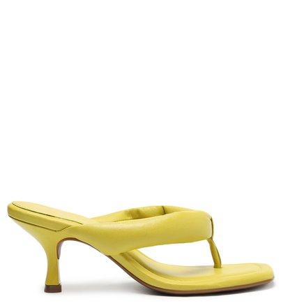 Sandália Verde Salto Fino Flip-Flop