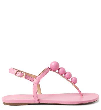 Rasteira Rosa Slim Esferas Baby Pink