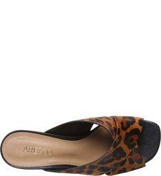 Sandália Pelo Salto Médio Anabela Leopardo