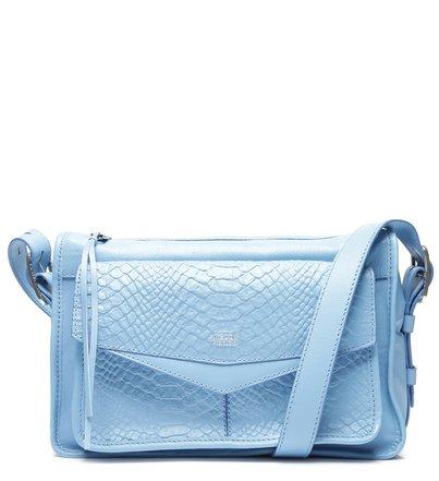 Bolsa Tiracolo Azul Couro Pamela Phyton