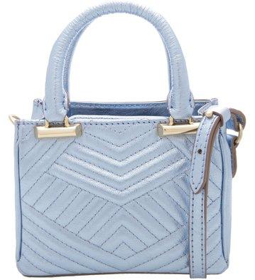 Bolsa Neutral Matelassê Pequena Retrô Blue