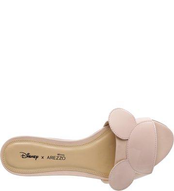 Disney x Arezzo | Slide Verniz Pop Peach Rose